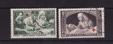 timbre France   croix rouge de 1940  paire  num: 459/60   oblitéré