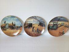 1990 Farming the Heartland Danbury Mint Porcelain Plates by Emmett Kaye