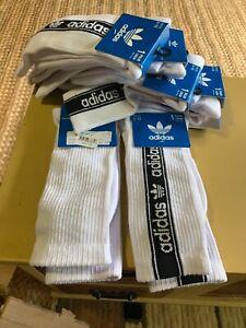 Adidas 1 Pair Crew Sock Size 6-12. Moisture Wicking.