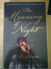 Michael Cox The Meaning Of Night SIGNED/DATED US PROOF + POSTCARD