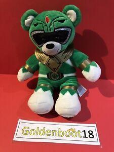 "GREEN POWER RANGERS BUILD A BEAR 25TH ANNIVERSARY 16"" INCH SOFT PLUSH TOY BAB"