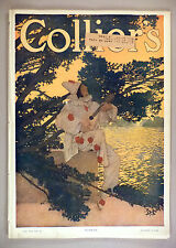 Collier's Magazine - August 8, 1908 ~~ Maxfield Parrish Pierrot cover