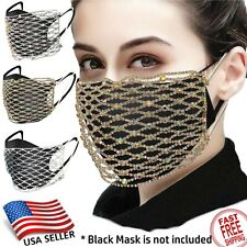 Sparkle Fashion Face Mask Party Bling Decoration Crystal Rhinestone Teenage girl