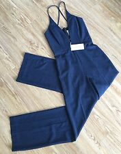 BNWT Mason By Michelle Mason NAVY Deep V-Neck Jumpsuit! Size 2! SUPER RARE ITEM