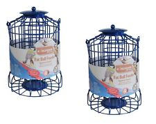 2 BIRD FAT BALL FEEDER SQUIRREL GUARD WIRE CAGE SQUIRREL PROOF PROTECT SUET FEED