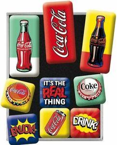Coca-Cola Pop Art set of 9 mini fridge magnets (na)