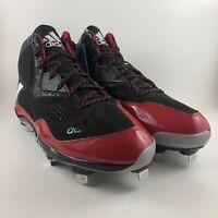 Adidas Litestrike Metal Black Red Baseball Cleats Mens Size 14