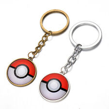 Anime Pokemon Go Pokeball Pikachu Poke Ball Keychain keyring pendant Gold NEW
