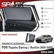 MAGNETIC CAR WINDOW SUN SHADE BLIND REAR DOOR FOR TOYOTA CAMRY AURION 2011-2017