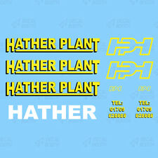 HATHER PLANT HEAVY HAULAGE CLASSIC DECAL SET 1:50 SCALE