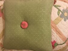 Decorative Bed Pillow - Pink & Green with Tassels (Reversible)