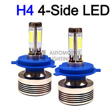 2x 4-Side H4 9003 LED Headlight Kit Bulbs 80W Super Bright 6000K Crystal White