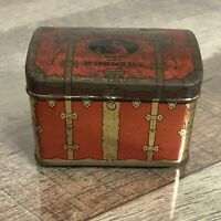 Vintage Sweet Touch Nee Tea Trunk Style Advertising Tin Can Box