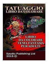 Tatuaggio Libro Da Colorare : Libro Da Colorare Tema Fantasia per Adulti by...