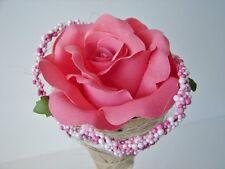 12 Kunstrosen Spitztüte lachs 60cm Rosenblüten Hochzeitsdekoration Rosen Blüten