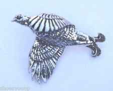 Black Grouse Bird Hand Made in Uk Pewter Lapel Pin Badge