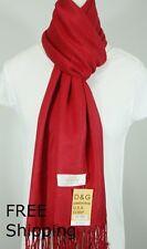 DG Pashmina Scarf Shawl Wrap*Solid RED-Silk,Cashmere*Soft*030