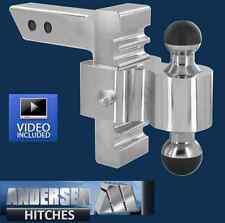 "Andersen 3405 Aluminum Adjustable Rapid Hitch Ball Mount 6"" Drop/Rise Greaseless"