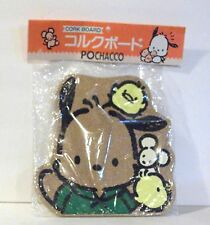 "Vintage 1995 Sanrio Hello Kitty 10"" x 10"" Pochacco Hanging Cork Bulletin Board"