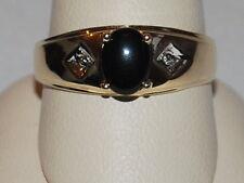 10K gold ring with a black onyx gemstone