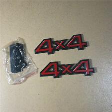 4x4 Black Red Metal Grille Emblem +  Badge Sticker compass Sport Limited suv 3D