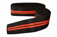 Weight Lifting Power Lifting Knee Wraps Supports Gym Training Black/Red