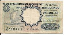 MALAYA AND BRITISH BORNEO , $1, P#8, 1959