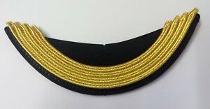 Genuine British Made 4 Row Officers Russian Mylar Guards Dress Cap Peak PK24