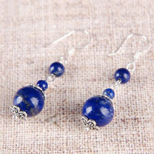 1Pair Beautiful Silver Plated Real LAPIS LAZULI Other Gemstone Variation Earring