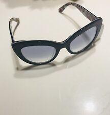 36181b4949ee New ListingNWOT Dolce   Gabbana 53mm Cat Eye Sunglasses Top Blue Italy MSRP   330 Authentic