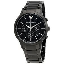 BRAND NEW EMPORIO ARMANI BLACK CERAMICA CHRONOGRAPH MEN WATCH AR1400