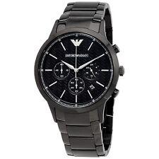 Neuf EMPORIO ARMANI noir ceramica chronographe hommes montre AR1400
