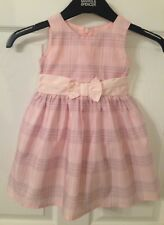 Baby Girls Adams Baby Pink Checked Fully Lined Dress - Age 6-9 Months