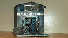 Vintage Tin Piggy Bank – Old West Rustic Building –Hand Crafted Black Smith Shop