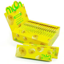 1 Box 20 booklets MOON BANANA Flavored Tobacco Smoking Rolling Papers 78*44MM