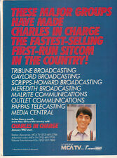 Scott Baio 1986 Ad- Charles In Charge  MCA fastest-selling