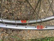 Mavic Monthlery Legere / Argent 10 Pista Wheelset Nos Tubs Immaculate