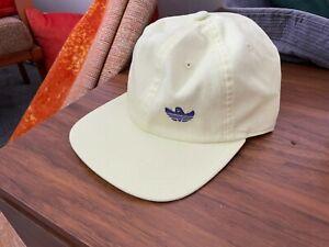 ADIDAS SHMOO HAT 6 PANEL SKATEBOARDING BASEBALL CAP YELLOW BNWT OSFM R26