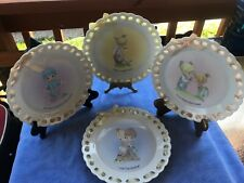 Precious Moments Decorative Collectors Plates Beautiful Set of 4 from Year 2004
