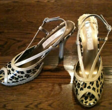 NWOT TWO LIPS SZ 8.5 SHOES LEOPARD PATENT LEATHER PLATFORM CREAM TRIM