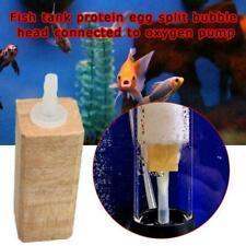 Wooden Air Stone Diffuser Marine Aquarium AIR BUBBLES Fish Tank Wood V1Y3 O9T4