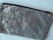 NEW Women Party Sequins Bling Sparkling Cosmetic hand Clutch evening Bag Pouch