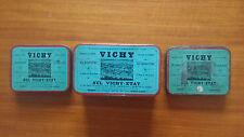 """Boites Métallique Ancienne """"Vichy"""" Lot de 3."""