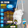8 LED 1080P HD IP Camera Outdoor WiFi 6xZoom Security Wireless IR Monitor Motion