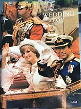 """PRINCE CHARLES & PRINCESS DIANA """" Their Wedding Day """" BOOK VG in Sleeve"""