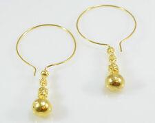 Orecchini ottomangems 21ct placcato oro ispirato africani dichiarazione Hoop handmade