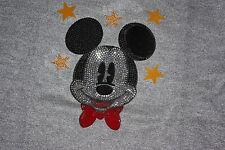 Monnalisa Pulli Pullover Mickey Mouse grau / Glitzer Gr. 140 Yeas 10