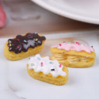3pc dollhouse miniature bread food breakfast snack dessert for dollhouse deco_yu