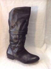 Aldo Black Mid Calf Leather Boots Size 37