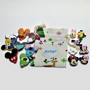 15 Croc Shoe Charms Disney World Characters Mickey Minnie Donald Pluto Goofy